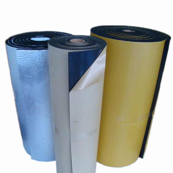 Rubber and plastic self-adhesive foam rolling material